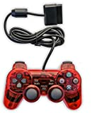 Old Skool PS2 Analog Controller Dual Shock for Sony PlayStation 2, Red