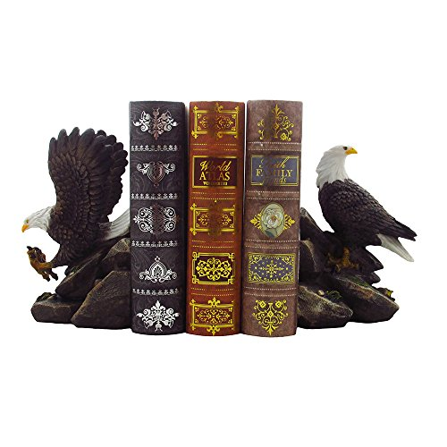 American bald eagle bookend set sculptures in office and for Eagle decorations home