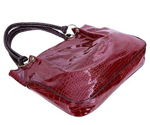 Maison De Decoration©Sac en cuir de Hobo d'épaule d'unité centrale de modèle de Madame Big Capacity Shiny Stone (rouge)
