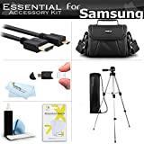 Essential Accessories Kit For Samsung F90, HMX-F90, HMX-F90BN, HMX-F90WN/XAA, HMX-F90BN/XAA HD Camcorder Includes 50