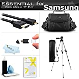 "Essential Accessories Kit For Samsung F90, HMX-F90, HMX-F90BN, HMX-F90WN/XAA, HMX-F90BN/XAA HD Camcorder Includes 50"" Tripod w/Case + Deluxe Case / Bag + Micro HDMI Cable + Screen Protectors + More"