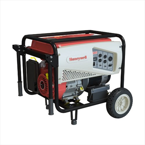 Honeywell 6037 5,500 Watt 389cc OHV Portable Gas Powered Generator with Electric Start