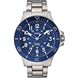 Timex Silver Blue Stainless Steel Men's Watch 43MM