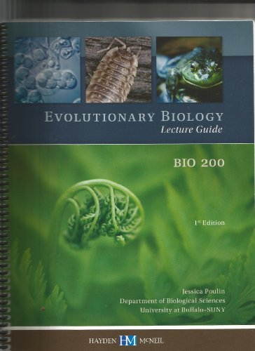 Evolutionary Biology Lecture Guide Bio200