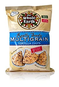 The Whole Earth Tortilla Chips, Really Seedy Multigrain, 10 Ounce