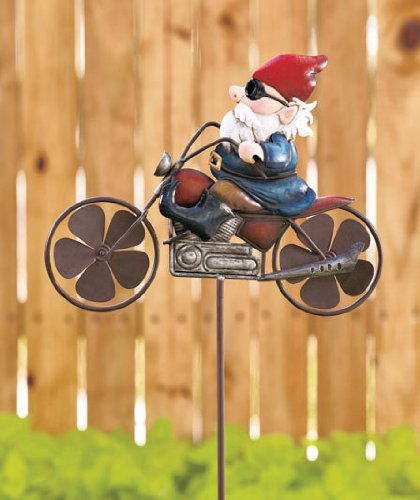 Motorcycle Gnome Wind Spinner