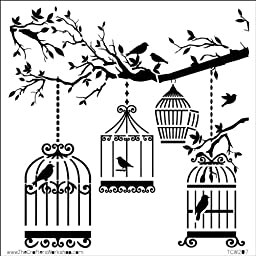 Crafters Workshop Crafter\'s Workshop Template, 6 by 6-Inch, Birds of a Feather