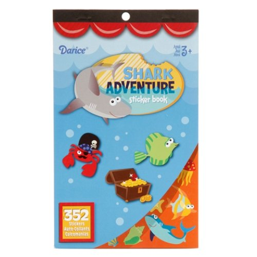 WeGlow International Shark Adventure Sticker Books, Set of 4