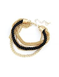 Black & Golden MultiLayer Chain Bracelet