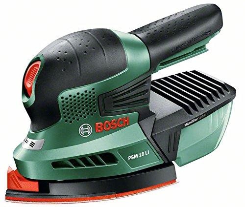 Bosch-DIY-Akku-Multischleifer-PSM-18-LI-ohne-Akku-3-Schleifbltter-K-80K-120K-160-Karton-18-V-Schwingzahl-22000-min-1-Schleifflche-104-cm