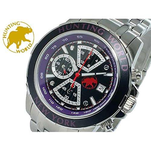ハンティングワールド HUNTING WORLD クオーツ クロノ 腕時計 替えベルト付 HW401SPU メンズ[並行輸入品]