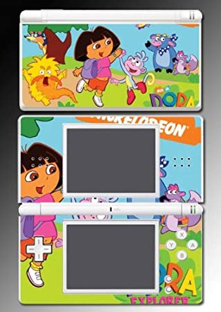 Dora the Explorer Backpack Boots Game Vinyl Decal Skin Protector Cover for Nintendo DS Lite