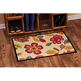Floral Bamboo Floormat: Home U0026 Kitchen