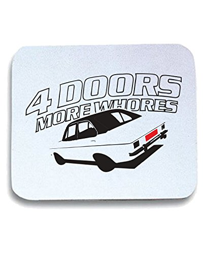 T-Shirtshock - Tappetino Mouse Pad TB0243 Details sur Doors More Whores Mk Escort, Taglia taglia unica