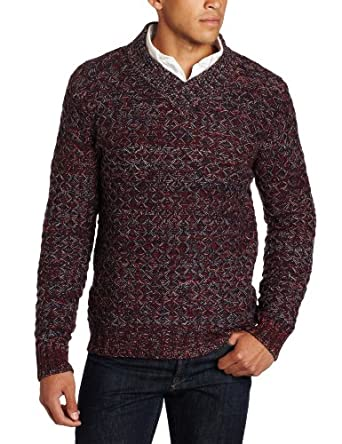 Moods of Norway Men's Severin Chunky Knit Sweater, Bordeaux, Small