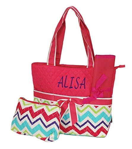 Personalized Diaper Bag Baby Bag Chevron Multi Color