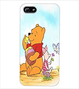 ColourCraft Cute Teddy Design Back Case Cover for APPLE IPHONE 5
