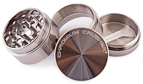 Chromium-Crusher-16-Inch-4-Piece-Tobacco-Spice-Herb-Grinder-Gun-Metal