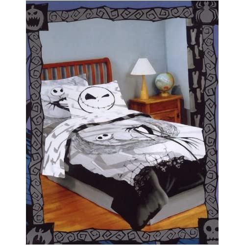 .com : Nightmare Before Christmas Comforter Set with 1 Sham : Bed ...