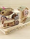 ZQ caja de música caja de música modelo de camión iocomotive madera creativo decoración bricolaje