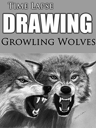 Clip: Time Lapse Drawing: Growling Wolves