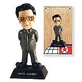 """Kim Jong Il North Korea Millitary 7"""" Bobblehead in Collector's Box"""