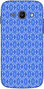 Snoogg Blue Flourish Pattern Solid Snap On - Back Cover All Around Protection...