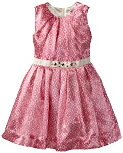 Hartstrings 2-6X Toddler Medallion Lace Print Charmeuse Dress from Hartstrings