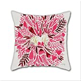 Cotton Linen Throw Pillow, Decorative Pillows.? As If ¨C Pink & Gold Cotton Linen Square Decorative Throw Pillow Case Cushion Cover 18 x 18 Inch