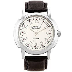 Laurels Veteran 1 Analog Silver Dial Mens Watch ( Lo-Vet-103)