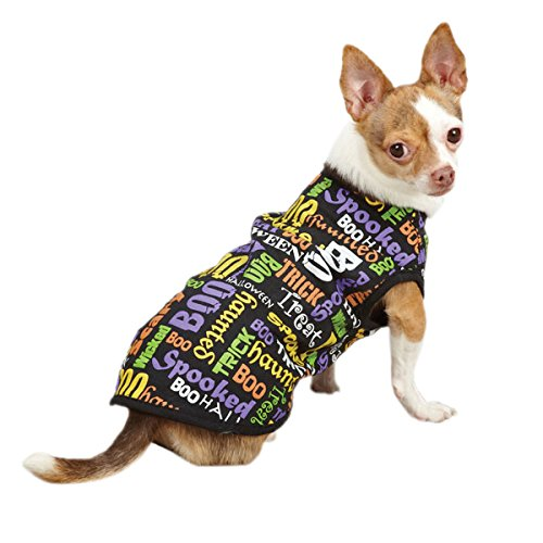 Casual Canine Polyester/Cotton Doggy Doodles Tee, Halloween, Small/Medium, 14-Inch front-621102