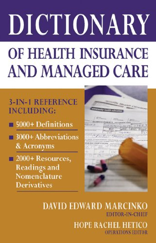 Amazon.com: Dictionary of Health Economics and Finance (9780826102546): David E. Marcinko MBA CFP CMP, Hope Rachel Hetico RN MHA CMP: Books
