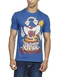 Zovi Men's Cotton Punk Not Dead Regatta Blue Graphic T-shirt (11291906901)