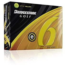 Bridgestone E6 Optic Yellow Golf Ball (2011 Model)