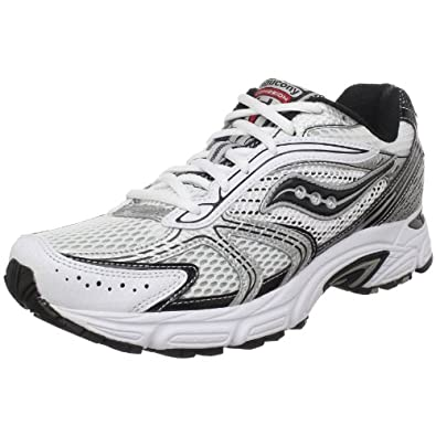 Saucony Men's Grid Cohesion 4 Running Shoe,White/Black/Red,9 M US