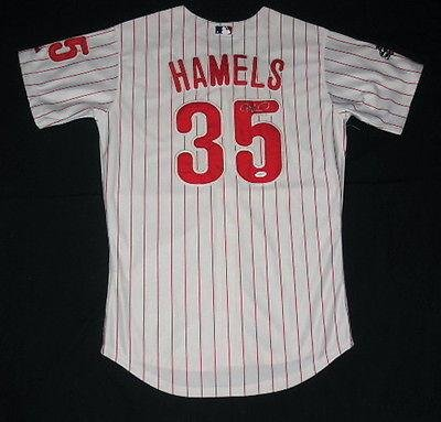 Cole Hamels Autographed Jersey (philadelphia Phillies) W/ Proof - Coa! - JSA Certified - Autographed MLB Jerseys