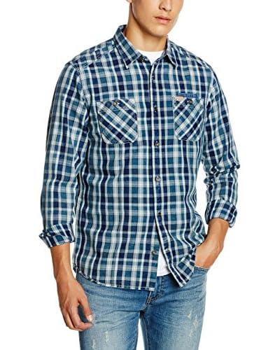 TOM TAILOR Camicia Casual [Blu/Blu Chiaro]