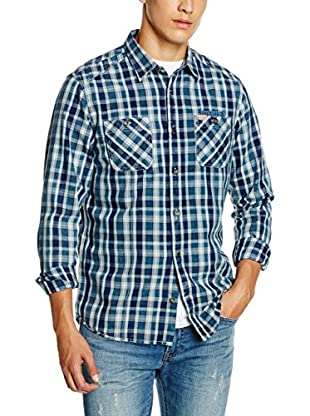 TOM TAILOR Camisa Casual (Azul / Azul Claro)