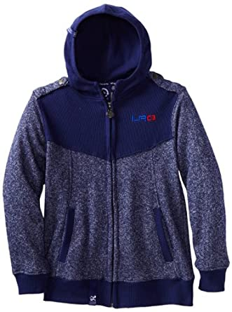LRG - Kids Big Boys' Overdraft Hoodie, Navy, X-Large