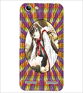 PrintDhaba Beautiful Girl D-3267 Back Case Cover for LENOVO VIBE K5 PLUS (Multi-Coloured)