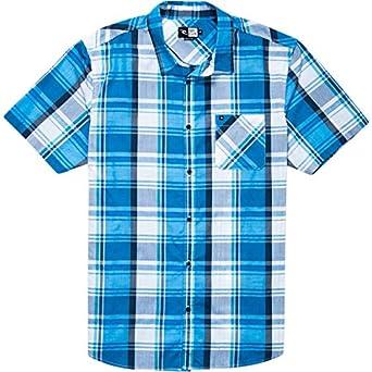 Rip Curl Men's Paloma Short Sleeve Shirt, Blue, Small