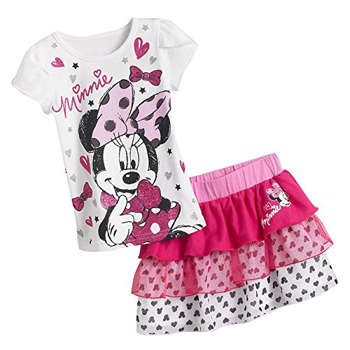 Disney Minnie Mouse Top & Tiered Skirt Set - 3T