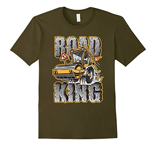 Men's Road King - Funny steamroller T shirt XL Olive (Weed Steam Rollers compare prices)