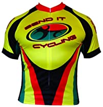 Bend It Rasta Recumbent Cycling Jersey-3 Extra Large