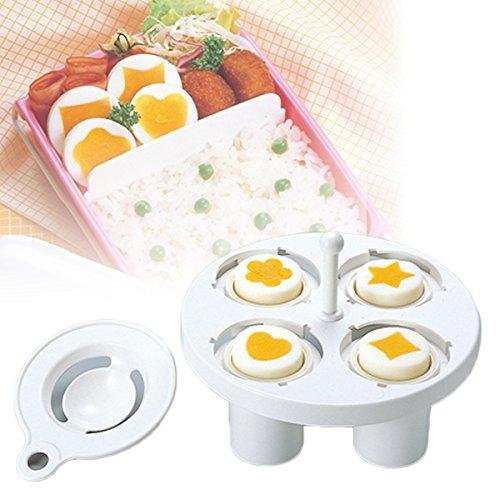 ゆで卵 型 かわいい オシャレ お弁当 デコ弁 ハート ひし形 花 星 調理小道具 日本製 ドリームランド A-20007