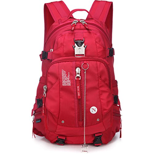 Zerd Outdoor Waterproof Nylon Mountaineering Camping Travel Backpack Trekking Bag 40L Red front-260527