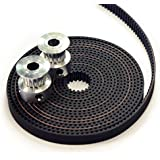2 x Aluminum GT2 16T Pulley and 2M Belt for RepRap 3D printer Prusa i3