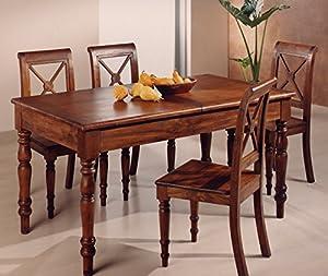 Tavolo da pranzo provenzale allungabile in legno massiccio ...