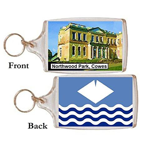 Schlüsselring Cowes Northwood park Geschenk Tourist Souvenir