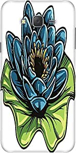 Snoogg Floral Vector Element Designer Protective Back Case Cover For Samsung J7
